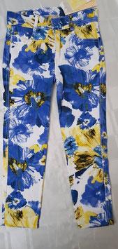 blauwe bloemen broek