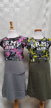 2 delig camouflage set met neon geel of fuctia