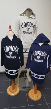 Jurk L'amour in donker blauw,zwart  of ecru