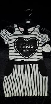 wit zwart Paris jurkje laatste in maat 92