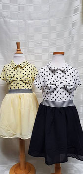 Jurkje in zwart/wit of geel/zwart