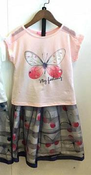 Mooie vlinder set shirt met rok