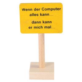 """Schild """"Computer..."""""""