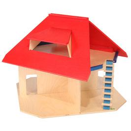 Puppenhaus mit Dachbalkon