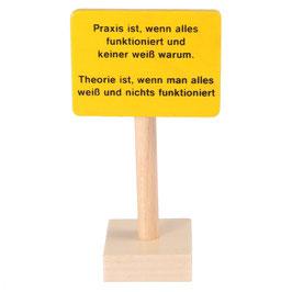 """Schild """"Praxis..."""""""