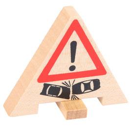 Verkehrsunfall Warnzeichen