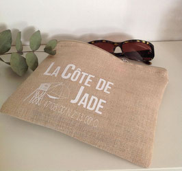 "Pochette jute ""Côte de Jade"""