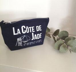 """Petite pochette à soufflet """"Côte de Jade"""""""