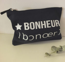 "Pochette zippée ""Bonheur"""