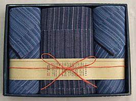 縞屋の治作 多重織ガーゼ バスタオル、フェイスタオル2P