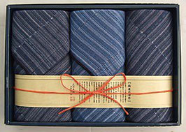 縞屋の治作 多重織ガーゼ フェイスタオル2P ミニタオル