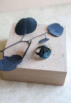 Bague GRANDE AQUARELLE - Nuances de Bleu foncé