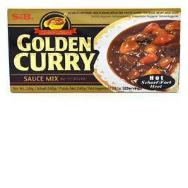 S&B Golden Curry Sauce Mix Scharf 240g