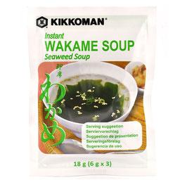 KIKKOMAN Instant Wakame (Meeresalgen) Suppe 18g