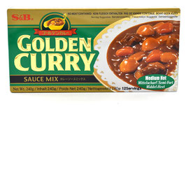S&B Golden Curry Sauce Mix Mittelscharf 240g