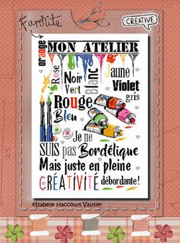 "ref: BDN 56 / "" Dans mon Atelier """