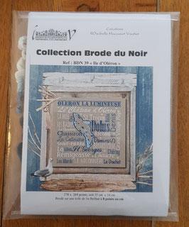 "Kit Collector - "" Ile d'Oléron"" / Aida de lin 8 pts au cm"