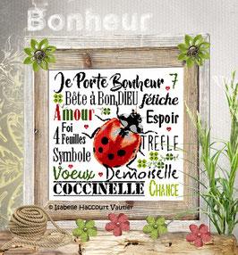 "ref: BDN55 / "" Porte Bonheur """