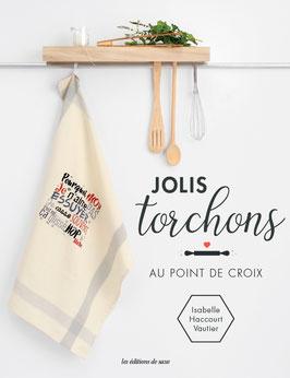 """Livre """" Jolis Torchons """" au point de croix de ©Isabelle Haccourt Vautier"""