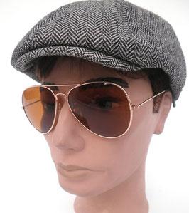 Sonnenbrille Pilotenbrille in Gold/Braun Retro Sonnenbrille 60er Jahre Vintage (13)