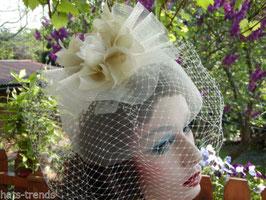 Fascinator Kopfschmuck elegant Hochzeit Fest (10)