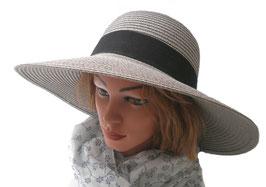 Damenhut eleganter und praktischer Strohhut Sonnenschutz Kofferhut Reisehut (33)