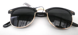 Retro Sonnenbrille 60er Jahre Vintage in Schwarz/ Graublau Vintage UNISEX (8)