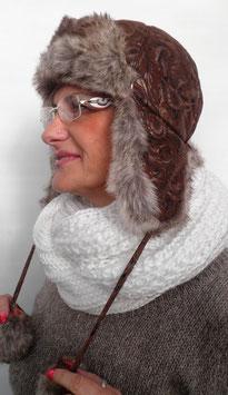 Tschapka/Pilotenmütze von Mc Burn Wind,warm Wintermütze Damenmützen Hüte (4)