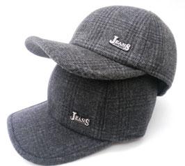 Herren Basecap Wintercap gefüttert mit Ohrenklappen Sportliche Wintermütze Cap ( 14 )