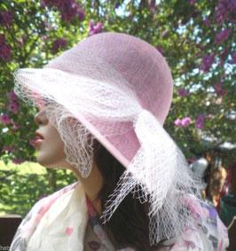 Damenhut im Stil der 30er Jahre Glockenhut Rosa Anlasshut Hochzeit Hut ( 16 )