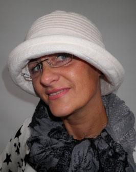 Damenmütze Fleecemütze in Grauweiß ( 39 )