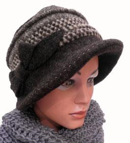 Damenmütze warme Fuggermütze Farbauswahl Stoffmix Damenmützen Strickmützen Hüte ( 49 )