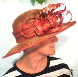 Damenhut in Beigegold/Orange Anlasshut Hochzeit Anlasshüte Ascot Anlasshüte( 18 )