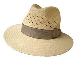 "Panamahut Travellar gerade Hutkrempe  ""Made in Ecuador"" Fasern aus Toquillas. ( 42 )"