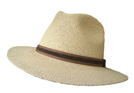 "Panamahut Travellar Klassiker gerade Hutkrempe ""Made in Ecuador"" Fasern aus Toquillas. ( 39 )"