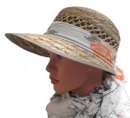 Damenhut Strohhut Sommerhut in vier Farbkombinationen zur Auswahl Damenhüte Urlaub Garten Sonnenschutz (36)