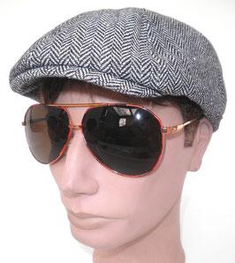 Sonnenbrille Pilotenbrille in Gold/Braun Retro Sonnenbrille 50er Jahre Vintage (12)