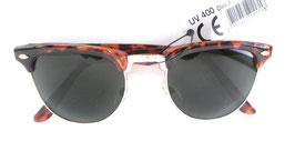 Retro Vintage Sonnenbrille 60er Jahre in Braun/ Graugrün Unisex Sonnenbrillen (44)