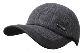 Herren Basecap Wintercap gefüttert mit Ohrenklappen Sportlich elegant Schirmmütze in 2 Farben zur Auswahl ( 9 )