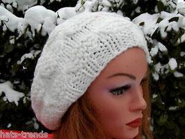Damenmütze Baskenmütze / Fuggermütze in Dunkelbraun Wollmütze Trend ( 7 )