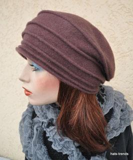 Damenmütze Baskenmütze / Fuggermütze in Dunkelbraun Wollmütze Trend ( 6 )