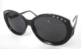 Damenbrille Sonnenbrille in Schwarz/Grau mit Strass Retro Vintage 80er Jahre (24)