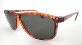 Retro Sonnenbrille 80er Jahre Braun/Graugrün Strasssteine Vintage Sonnenbrillen (27)