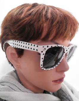Sonnenbrille in Weiß/Schwarz Retro Vintage Wayfarer UNISEX Sonnenbrillen (32)