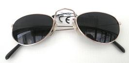 Nickelbrille Silber / Graublau Retro Sonnenbrille 60er Jahre Vintage UNISEX (21)