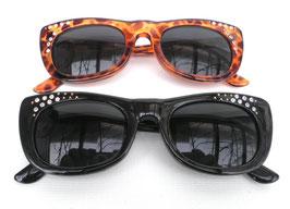 Sonnenbrille Damenbrille Braun/Schwarz mit Strass Retro Vintage 70er Jahre (28)