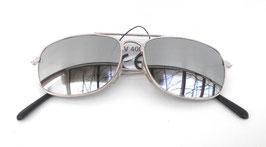 Retro Vintage 80er Jahre Sonnenbrille Pilotenbrille Silber verspiegelt UNISEX (19)
