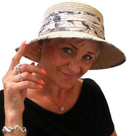 """Damenhut von """"SEEBERGER"""" Naturstroh Sommerhut Urlaub Garten Anlasshut Damenhüte"""