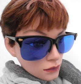Sonnenbrille in Schwarz/Blau Retro Vintage 80er Jahre Sonnenbrillen UNISEX (25)