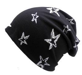 Beanie XL Long Slouch mit Sternen, ganzjährig tragbar, in 3 Farben zur Auswahl. (19)